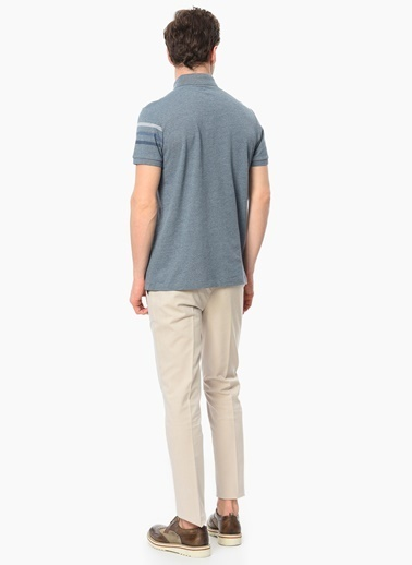 Network Polo Yaka Tişört Mavi